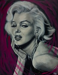 Marilyn - Blonde Bombshell by Pete Humphreys - Original Painting on Stretched Canvas sized 28x36 inches. Available from Whitewall Galleries
